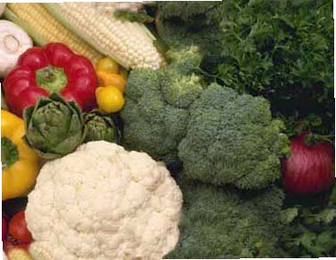 Fresh Fruit and Vegetables will help flatten your tummy!